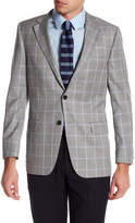 Hickey Freeman Houndstooth Two Button Notch Lapel Wool Classic Fit Sport Coat