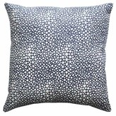 The Well Appointed House Shagreen Print Pillow in Navy