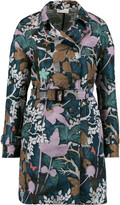 RED Valentino Printed satin-twill trench coat
