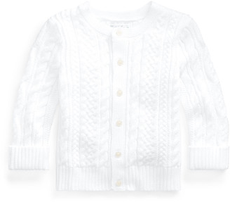 Ralph Lauren Kids Cotton Cable-Knit Cardigan, 6-24 Months