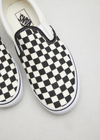 Vans black & white checkerboard / white classic slip-on