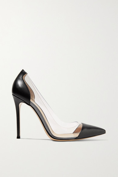 Gianvito Rossi Plexi 100 Leather And Pvc Pumps - Black