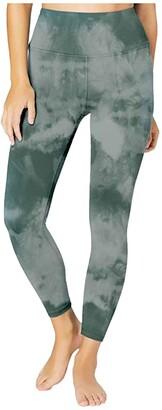 Beyond Yoga Lux High Waisted Midi Leggings (Black Snake) Women's Casual Pants
