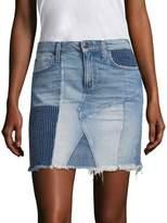 Joe's Jeans Charlie Patchwork Denim Skirt