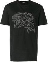Roberto Cavalli tiger studded T-shirt - men - Cotton/Polyester - S