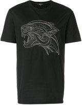 Roberto Cavalli tiger studded T-shirt