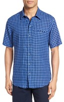 Zachary Prell Men's Ray Plaid Linen Sport Shirt