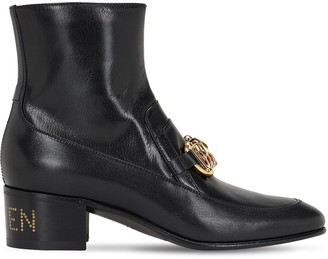 Gucci 45mm Ebal Leather Ankle Boots