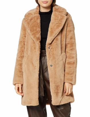 New Look Women's OP AW19 Willow LI Faux Fur COA S12 Coat