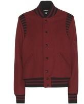 Saint Laurent Wool-blend Bomber Jacket