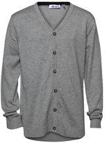 Dex Long Sleeve V-Neck Button-Down Cardigan GREY