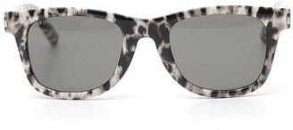 Saint Laurent Eyewear Square Leopard Sunglasses