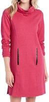 Lole Gray Funnel Neck Fleece Dress - Long Sleeve (For Women)
