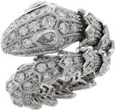 Bvlgari White Gold and Diamonds Serpenti Ring
