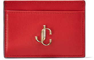 Jimmy Choo UMIKA Royal Red Calf Leather Card Holder