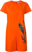 Cacharel pleat detail T-shirt dress