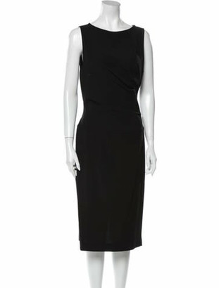 Narciso Rodriguez Bateau Neckline Midi Length Dress w/ Tags Black