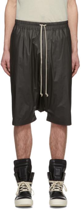 Rick Owens Grey Ricks Pods Shorts