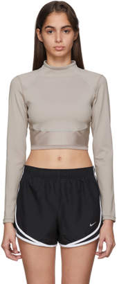 Nike Taupe City Ready Crewneck Top