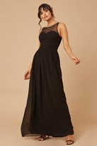 Thumbnail for your product : Little Mistress Grace Black Embellished Neck Maxi Dress