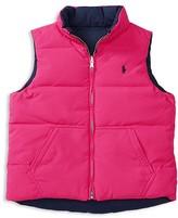 Ralph Lauren Girls' Reversible Down Vest - Sizes S-XL