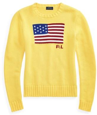 Ralph Lauren Boxy Fit Flag Cotton Jumper