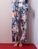 Fashion World Floral Print Satin Wide Leg Trousers