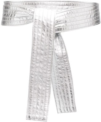 Philosophy di Lorenzo Serafini Metallic Sash Belt