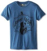 Original Retro Brand The Kids Johnny Cash Heathered Tee (Big Kids)