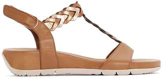 Tamaris Miki Leather Heeled Sandals with Braised Strap
