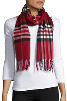 Lord & Taylor Plaid Cashmere Scarf