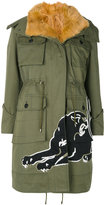 Valentino panther patch hooded jacket