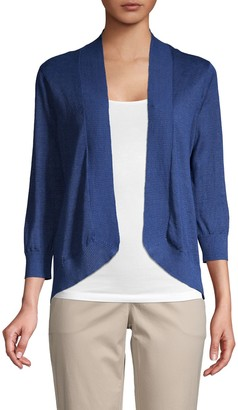 Tommy Bahama Open Front Knitted Linen Cardigan