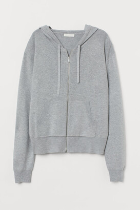 H&M Fine-knit hooded jacket