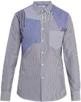 Alexander McQueen Patchwork striped cotton shirt