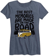 Instant Message Women's Women's Tee Shirts HEATHER - Heather Blue 'Memories Are Made on the Road' Relaxed-Fit Tee - Women