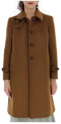 Miu Miu Bow Detail Single Breasted Coat