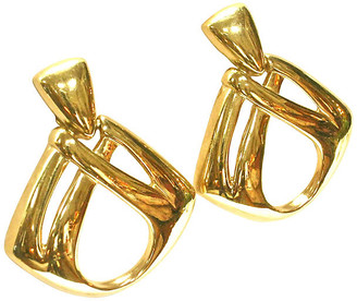 One Kings Lane Vintage Givenchy Oversize Gold Knocker Earrings - Wisteria Antiques Etc