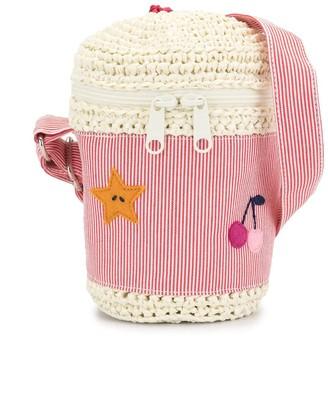 Familiar Candy Stripe Bucket Bag