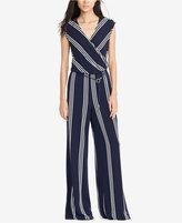 Lauren Ralph Lauren Striped Jersey Jumpsuit