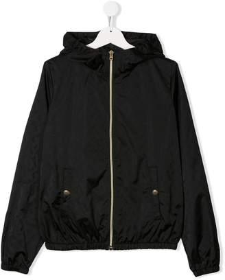 Herno Logo Print Hooded Jacket