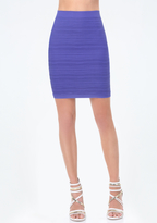 Bebe Ribbed Tube Skirt