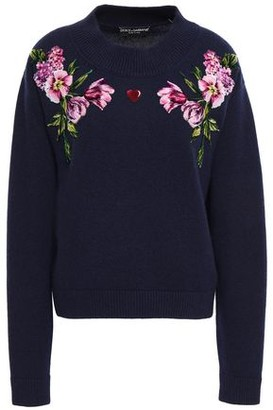 Dolce & Gabbana Floral-appliqued Wool Sweater
