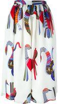 MSGM printed skirt - women - Polyester/Silk - 40