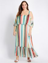 Marks and Spencer PLUS Striped Flared Maxi Dress