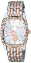 U.S. Polo Assn. Women's Stainless Steel Analog-Quartz Watch with Alloy Strap