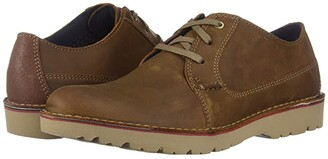 Clarks Vargo Plain (Dark Tan Leather) Men's Shoes
