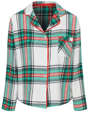 George Green Check Collared Long Sleeve Pyjama Top