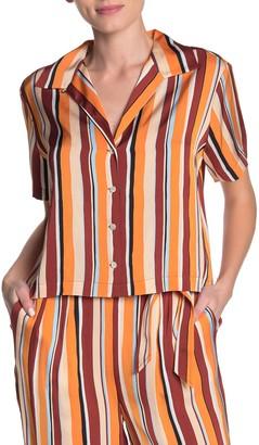 Frame Stripe Button-Down Shirt