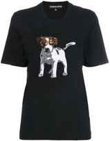 Markus Lupfer sequin dog T-shirt
